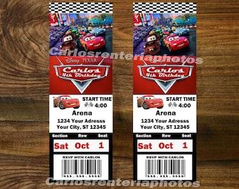Disney Cars Birthday Ticket Invitation. Disney Cars Ticket Invitation