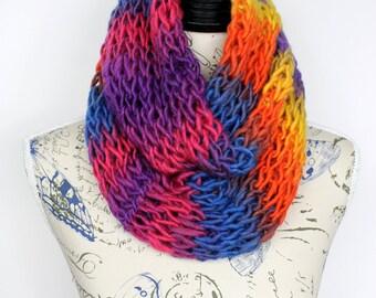 Infinity Scarf Knit Scarf Girlfriend Gift Knit Scarf Gift for Mom Knit Infinity Scarf Gift For Wife Gift Womens Oversized Knitting
