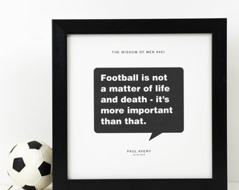 Personalised Football Print; Football Gift; Soccer Poster; Mens Gift; Football Fan Gift; Boyfriend Gift; Husband Gift; Gift For Dad; PAP103