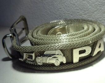 70s.Adjustable Metal belt Made In France
