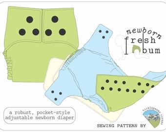 Newborn Fresh Bum Cloth Diaper Pattern