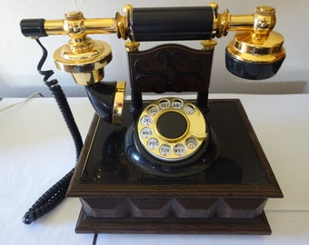 Vintage 1970's Western Electric Deco-Tel French Style Victorian Rotary Dial Landline Telephone - FREE SHIPPING