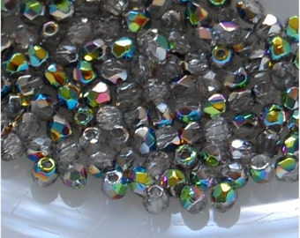 FIRE POLISH 2.5mm beads, Crystal Vitrail Medium, colour number 00030/28101, sold in units of 200