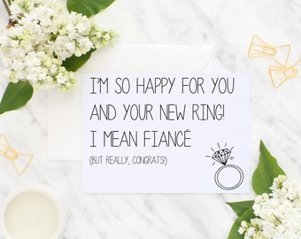 New Ring Engagement Flat Card