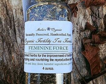 """Organic Fertility Herbal Tea & Douche """" Feminine Force""""."""