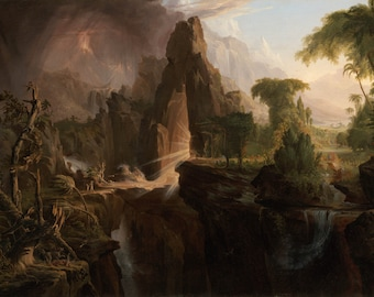 Thomas Cole: Expulsion From the Garden of Eden. Fine Art Print/Poster (00379)