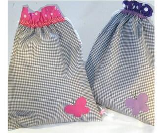Travel Lingerie bags/Set. Laundry bags.Drawstring Lingerie Bags.Travel Underwear Bag.Butterflies.Travel bag.Bridal shower gift.Gift for her