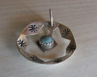 Sterling Silver and Turquoise Pendant.
