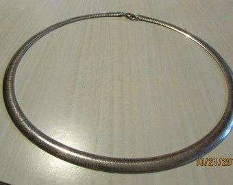 """Sterling Silver Omega Chain  5/16"""" wide x 20"""" long"""