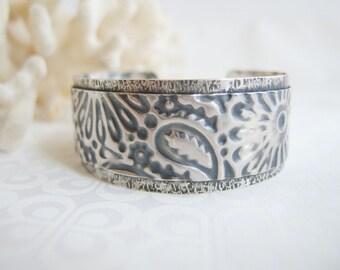 Wide Silver Cuff Bracelet, Sterling Silver Bracelet Cuff, Silver Bracelet Cuff Silver Bracelet Women, Statement Bracelet, Hammered Cuff