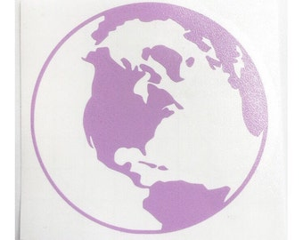 World Globe Decal | Yeti Cup Decal | Tumbler Decal | Car Decal | Laptop Decal | Custom Decal | Vinyl Decal