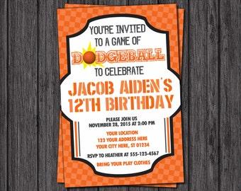 Dodgeball Birthday Invitation - Sports Birthday Invitations