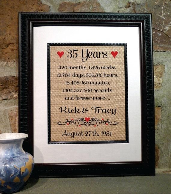 Wedding Anniversary 35 Years Gifts: 35 Years Of Marriage 35th Wedding Anniversary 35 Years Of