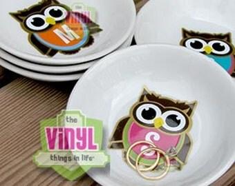 Monogram ring dish, Owl monogram, Personalized ring dish, Monogrammed jewelry holder, Graduation gift, Girl gift idea, Bridesmaid gift