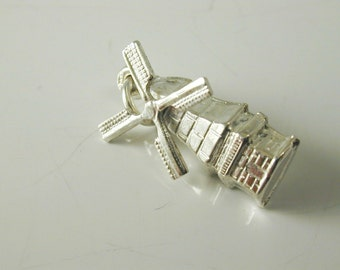Charm Windmill silver vintage 835 standard 0.9 grams
