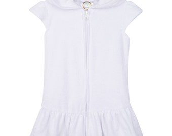 Monogram Girl's Terry cloth swim cover up dress Pre-Order