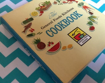 The General Foods Kitchens CookBook, retro cook book, 1959, first printing, vintage