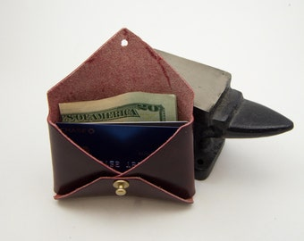 Leather Business Card Holder, Leather Card Wallet, Leather Coin Purse, Leather Card Pouch, Coin Pouch