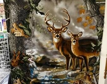 Real Tree Deer Panel