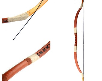 MAYARMS Manchu Bow Traditional Archery Longbow Youth Archery Color Brown 20-70lbs