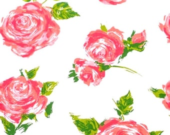 """Rose / Floral on White Tissue Paper # 327 .. 10 large sheets, 20"""" x 30"""" .. Flower"""