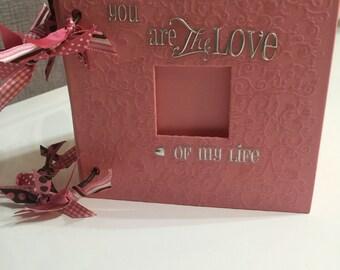 "Handmade mini 6"" x 6"" Scrapbook"