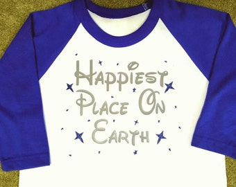 Happiest Place On Earth Baseball t-shirt  - ADULT SIZES