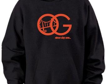 OG Since Day One SF Giants Black Orange Hoodie Sweater