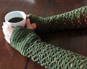 Elfin Crochet Fingerless Gloves/Arm Warmers