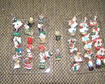 Mini Doll House / Mini Christmas Tree Ornaments - 39 in all!