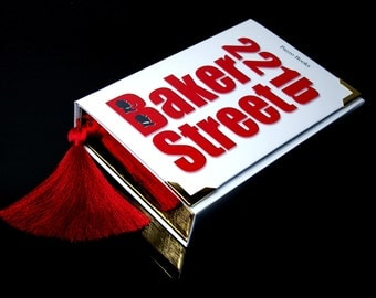 Book Clutch SHERLOCK HOLMES Bakerstreet 221b (customizable)
