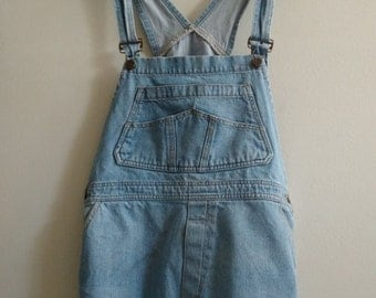 Denim Cut Off Overalls