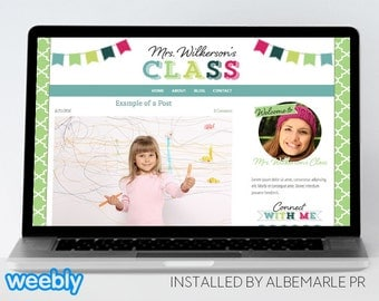 Premade Weebly Template Teacher Blog Classroom Lessons - Mrs. Wilkerson