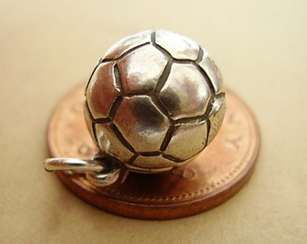 Sterling Silver SOCCER FOOTBALL Opening Silver Charm