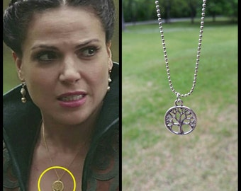 OUAT Inspired Regina Mills Apple Tree Necklace/OUAT Jewelry/Tree of Life Necklace/OUAT/Regina Mills/Gift
