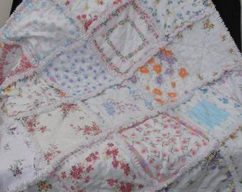 Vintage Style Handkerchief Rag Quilt