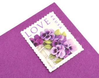 20 Pansies Love Stamps - 44c - Unused Postage - 2010 - Quantity of 20