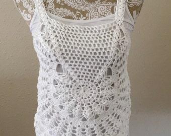 Handmade Crochet Tank top Medium