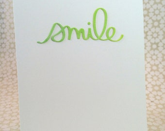 Smile / Notecard / Folded Notecard / Watercolor