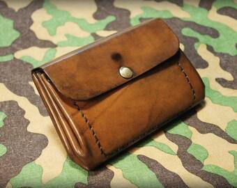Wallet, Italian Leather Wallet, Bellows Wallet, Womens Wallet, Woman Leather Wallet, Folding Wallet, Handmade Multipocket Wallet - Art.WW001