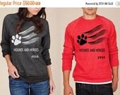 Charitable Sale FTLA Apparel Hounds and Heroes Unisex Crew Neck Eco Fleece Sweatshirt