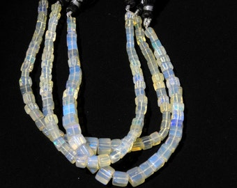 """Free Shipping Ethiopian Welo Opal Smooth Cube - Smooth Cube 3.5-6.5 M.M. 8"""" 3 Strand"""