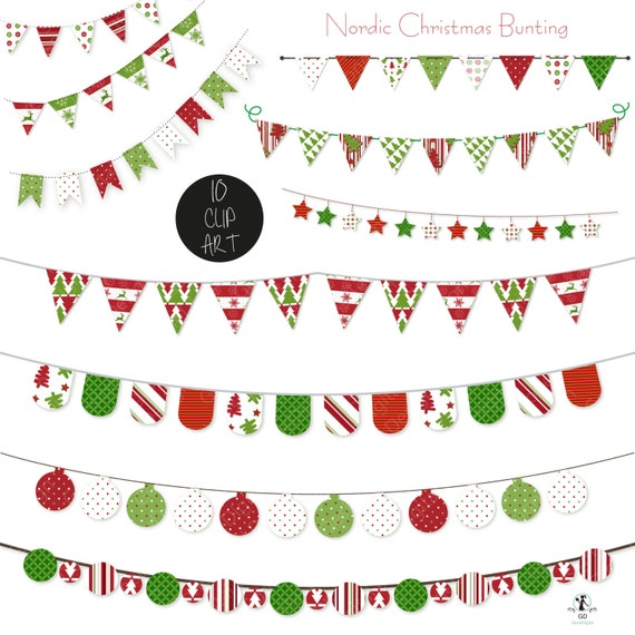 clip art nordic christmas bunting clipart digital scrapbooking rh catchmyparty com digital scrapbook clipart free Digital Scrapbooking Software
