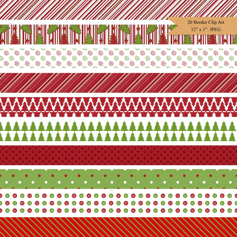 Digital Borders Nordic Christmas Border Clip Art Christmas