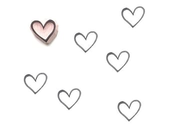 Heart Rubber Stamp   011062