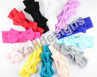 U Pick 6cm( 2.4'' inch) 1pcs/lot Cotton Baby Headbands Handmade Big Bow Headband DIY Accessory-YTK17