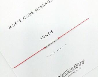 Morse Code 'auntie' bracelet