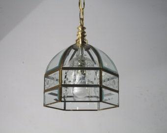 Vintage Pendant Glass Lighting Fixture Lamp Ceiling Light Lantern