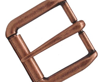 "Antique Copper Napa  Roller Belt Buckle 1-1/4"" 1642-10"