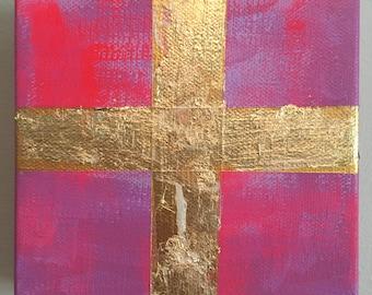 Pink 5 x 5 Cross